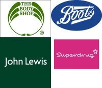 Varie brand di negozi a Londra
