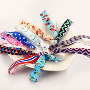 Beautiful Pattern Colorful No Crease Hair Ties Ponytail Bracelets Rope