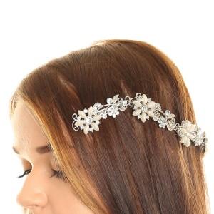 Claire Silver hair Clip