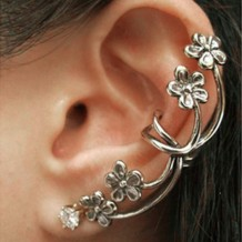 Fashion Cool Rock Punk Gothic Snake Dragon Ear Cuff Stud Unisex Vintage Earrings