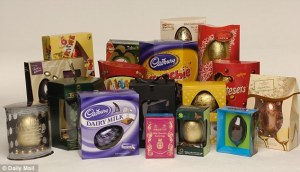 Easter Eggs - UK - Credit Daily Mail