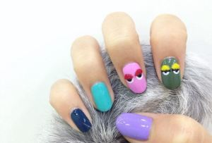 Pom-Pom Nail Art - Credit Metro UK