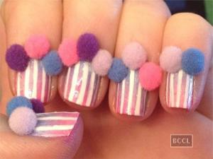 Pom-Pom Nail Art - Credit Times of India