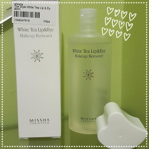 The Style White Tea Lip & Eye Makeup Remover della Missha