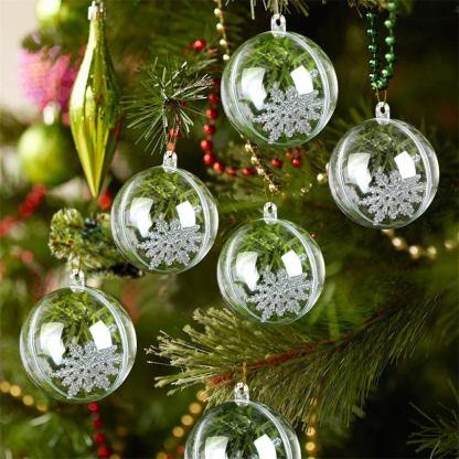 Ebay - Palline Trasparenti per l'albero di Natale