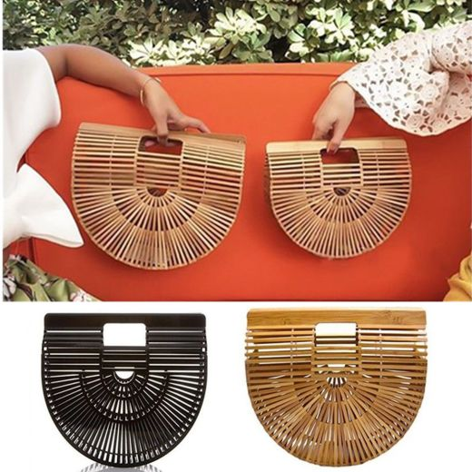 Semi-circle Bamboo Beach Bag Handmade Women Lady Handbag-Ark-bag-Shoulder-Bags-Courtesy-Ebay_bellezza_in_the_city