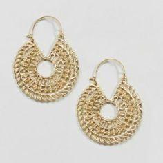 Asos Design Cut Out Hoop Earrings