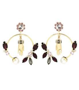 Erdem - Embellished Hoop Earrings