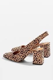SlingBack Shoes - Leopard Print - Topshop