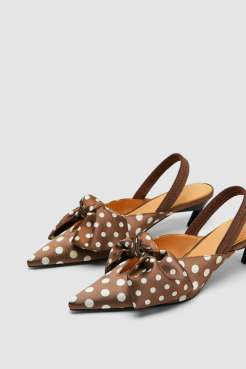 SlingBack Shoes - Polka dot - Zara