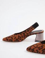 SlingBack Shoes - Stradivarious Leopard Print - Asos