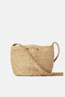 Natural Jute Tote Bag Details Zara