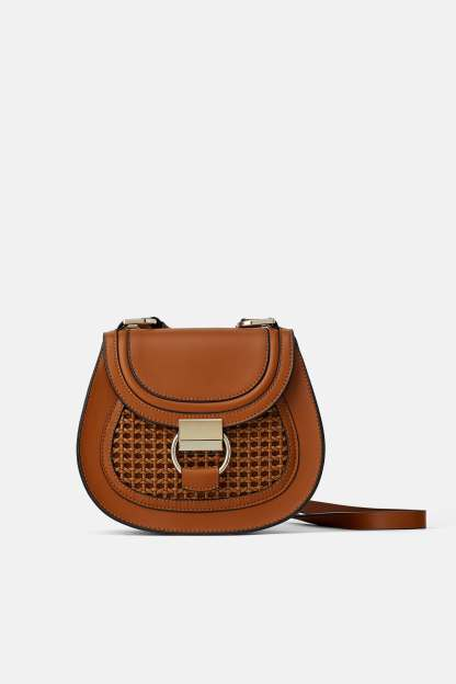 OVAL CROSSBODY BAG WITH RING ZARA